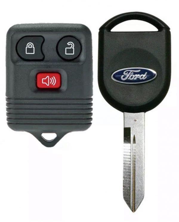 1998-2016 Ford / Lincoln/ Mercury / Mazda / 3-Btn Keyless Entry Remote / CWTWB1U331 / (R-FD-3) / Key   K-H84-PT